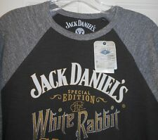 New LUCKY BRAND FENDER GUITARS JACK DANIELS White Rabbit Saloon Gray T Shirt~S