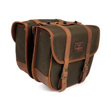 Longride Satteltasche Überwurftaschen aus Waxcotton Khaki für Harley-Davidson