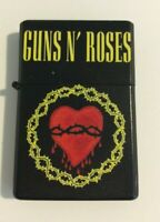 GUNS N' ROSES Refillable Metal LIGHTER Heart And Thorns Axl NEW OFFICIAL RARE