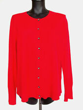 NWT $125  Apt. 9 100% Cashmere Cardigan Sweater Women's Size XL Red Button Front