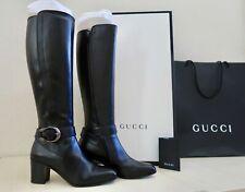NIB Gucci Dionysus Tall Leather Knee Boots Black Size 37.5 / 7.5 Retail $1690