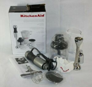KitchenAid 3-Speed Immersion Hand Blender KHB2351CU Silver Blend Chop Whisk