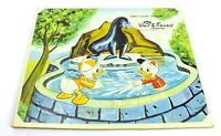 Vintage JAYMAR Board Puzzle WALT DISNEY CHARACTER Donald Duck NEPHEWS At ZOO
