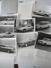 1969 Fiat Press Kit Brochure Photos 850 Spider Coupe 124 Sport Dino Coupe +
