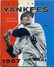 1957 New York Yankees Yearbook