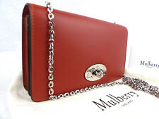 Authentic MULBERRY Bayswater clutch wallet in brick red leather