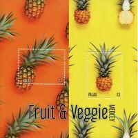 Palau Fruits Stamps 2020 MNH Fruit & Veggie Medley Vegetables Pineapples 2v S/S