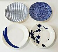 "Royal Doulton Pacific Set of FOUR Salad Plates 9-3/8"" Blue White"