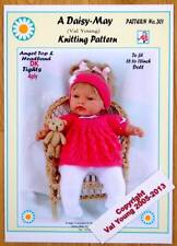 "1 NEW DOLL'S KNITTING PATTERN 16""/18""  DOLL  No. 301 by Daisy-May"