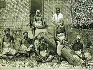 EX KING CACOBAU of FIJI ISLANDS 1883 Art Print Matted
