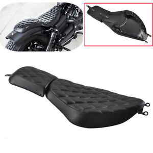 Motorcycle Driver Passenger Two-Up Seat for Harley Sportster XL 883 1200 72 Iron