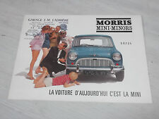 Dépliant Morris 850 suspension hydrolastic Mini Minors en français