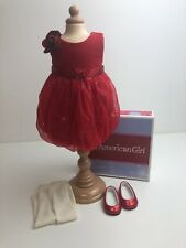 Genuine American Girl Doll. Gorgeous Red  Party Outfit . VGC .🇬🇧 Boxed