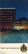 Hotel Stadt Mühlhausen Thüringen Prospekt DDR 1970