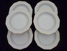 Assiettes creuses porcelaine blanche Winterliug Bavaria Schwarzenbach  doré