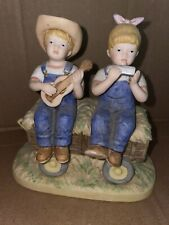 "Vintage Denim Days ""Hay Ride� Danny & Debbie Home Interiors Figurine #1529"