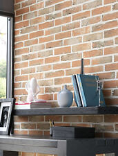 Newroom Steintapete beige jung modern Vlies grau rot 3d OPTIK