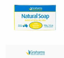 4 x 100g Grahams Natural Soap with Manuka Honey ( Relief Itchy Dry Skin ) 400g