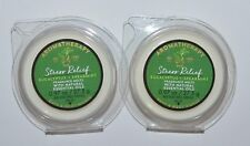 2 BATH & BODY WORKS STRESS RELIEF EUCALYPTUS SPEARMINT WAX MELTS TART CANDLE LOT