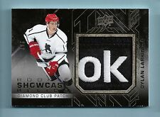 DYLAN LARKIN 2015/16 UD BLACK ROOKIE SHOWCASE RELICS REEBOK LOGO PATCH /2