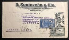 1937 Mexico City Mexico Advertising Airmail cover To Dresden Germany