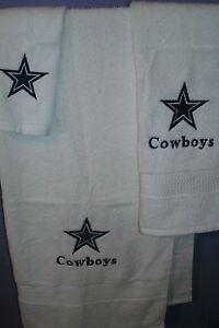 Cowboys Personalized 3 Piece Bath Towel Set Football Cowboys Any team