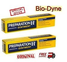 2x25gr PREPARATION H -Puffy Eyes, Wrinkles, Hemorroids with Bio-Dyne & Shark Oil