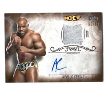 WWE Apollo Crews 2016 Topps Undisputed Bronze Autograph Relic Card SN 90 of 99