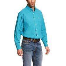 NEW Ariat Pro Bachelder $59 L/S Button Down Shirt Blue Check Men's Tall, Large