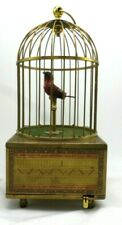 Karl Griesbaum German Square Base Singing Mechanical Bird Cage Music Box Vintage
