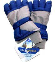 SO Girls S//M Rainbow Foil Print ski gloves turquoise aqua star w// Thinsulate