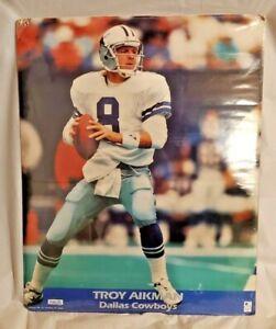 Troy Aikman Dallas Cowboys Photo File Cardboard Poster 16X20 NFL Rare
