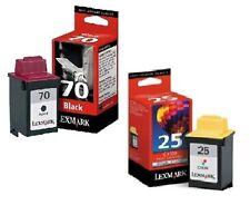 2x ORIGINAL LEXMARK Cartuchos X70 X73 x 80 x83 X85 X125 / Tinta 70+25
