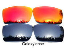 Galaxy Replacement Lenses For Oakley Gascan Black&Red Color Polarized 2Pairs