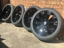 "4X GENUINE HOLDEN VF CALAIS GLOSS BLACK  2016 19""  WHEELS & NEW  TYRES VE VZ"
