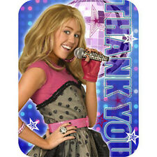 HANNAH MONTANA Rock the Stage THANK YOU NOTES (8) ~ Birthday Party Supplies Card