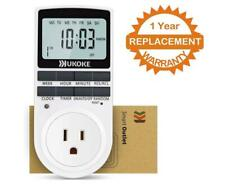 Ukoke 7-Day Digital Electrical Programmable Timer Outlet Switch Plug for Lights