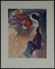 "Original Salvador Dali ""In the Heaven of Jupiter"" Hand Signed woodcut"