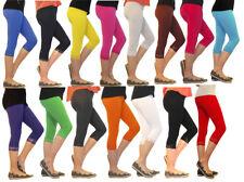 Niñas Niños Leggings Leggins Capri 3/4 Corto Con Encaje Pantalones Algodón