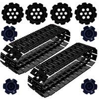 54 BLACK Lego EV3 Large Tread Links + Sprockets: technic,mindstorms,robot,tracks