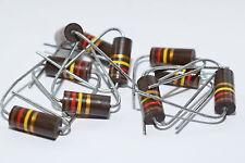 10x VINTAGE carbone Massa Resistenza V. Stackpole 120 K, 2w, sono denominati resistor, Tube Amps