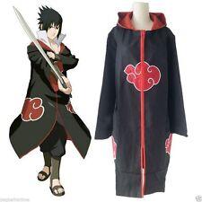 Anime NARUTO Uchiha Itachi Cosplay Costume CloaK Akatsuki Ninja Wind Coat S