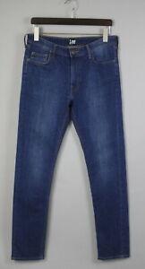 Lee All Gender Slim Homme W32/L32 Extensible Braguette Zip Jeans Bleu 19242 _ Js