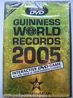 Guinness World Records 2005 Interactive DVD Game NEW SEALED PAL Region 2