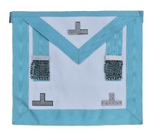 Masonic Regalia Craft Worshipful Mason WM Apron Past Master Lambskin Leather