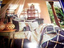 Revman 'KATJA' Animal Print Leopard Cheetah Cotton/Poly Queen Bed Skirt, New