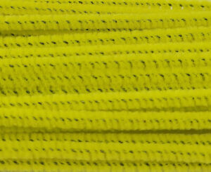 """Lot of 100 Yellow Wired Chenille Stems Craft Pipe Cleaners 12"""" x 3mm 1/8"""""""