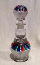 Millville NJ Red Blue and Green Paperweight Ink Bottle