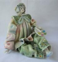 Exquisite Rare Vintage Porcelain Clown Made in Italy for Gumps San Francisco