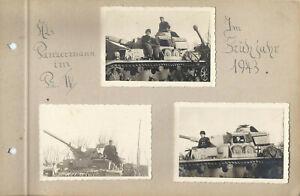 Foto  Panzer Panther Reg.  G. Deutschland Ukraine 1943 Panzermann 6xorg .Foto